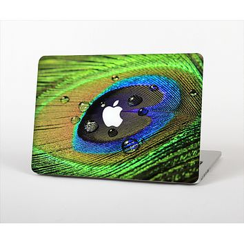 The Watered Neon Peacock Feather Skin Set for the Apple MacBook Air 11""