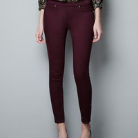 STRETCH JEGGINGS - Jeans - Woman - ZARA United States