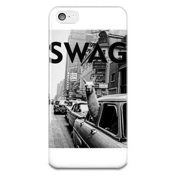 NOVO5 SWAG Llama In New York City Cab iPhone 5-5s Plastic Case