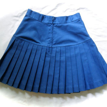 80s Blue Cheer Skirt // Tennis Skirt // Preppy // Mini Skirt