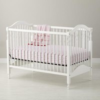 The Land of Nod: Baby Cribs: Classic White Wooden Baby Crib in Cribs