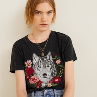 Decorative embroidery t-shirt - Women | MANGO United Kingdom