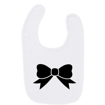 Bow Tie Art Baby Bib Humour Gift Present Baby Shower Wedding Inspired Birthday