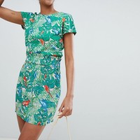 Monki beach skirt in parrot print at asos.com