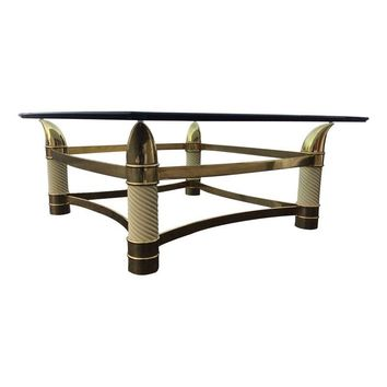 Pre-owned Italian Modern Brass Coffee Table