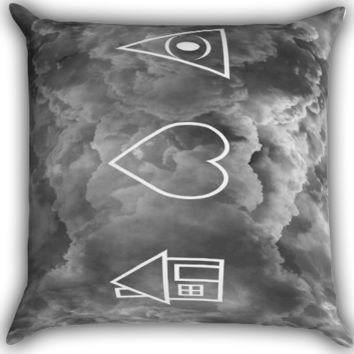 the 1975 band i-love-you-album-cover Zippered Pillows  Covers 16x16, 18x18, 20x20 Inches