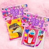 Time Machine to the 90's valentine card pack