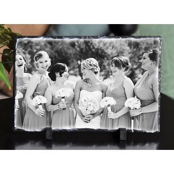 Handmade and Customizable Slate Home Sign - Personalized Photo Plaque
