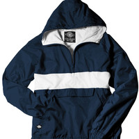 Charles River Monogrammed Pullover Rain Jacket
