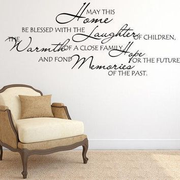 Blessed Home Inspirational Wall Decal