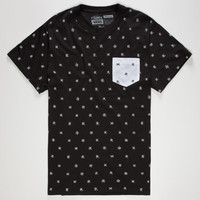 Vans Piedmont Mens Pocket Tee Black  In Sizes