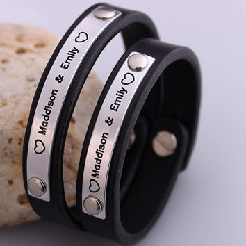 Shop Customized Couple Bracelet On Wanelo