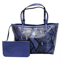 Gucci Craft Blue Python Tote Bag 247209