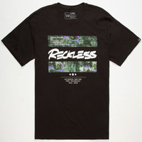 Young & Reckless Oil Bars Mens T-Shirt Black  In Sizes
