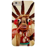 Cute, red and brown, funny face kachina doll photo barely there iPhone 6 plus case