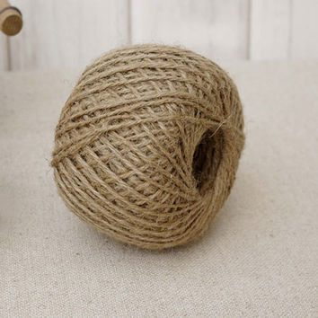 Woven 30m Roll Natural Hemp Rope DIY Tag Label Hang Rope Wedding Home Accessories Decorative Twine Jute String Gardening Cord