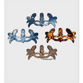 """Four Elemental Masquerade Masks 9 x 10.5"""" Rectangular Static Wall Cling by TooLoud"""