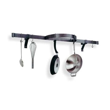 Enclume Design Products PR10-HS Hammered Steel Wall Shelf with Half Circle