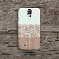 Mint wood lace iPhone 6 case, wood lace iPhone 6 plus case, matte iPhone 5s case, iPhone 4s case, mint floral wood, Christmas gift 633