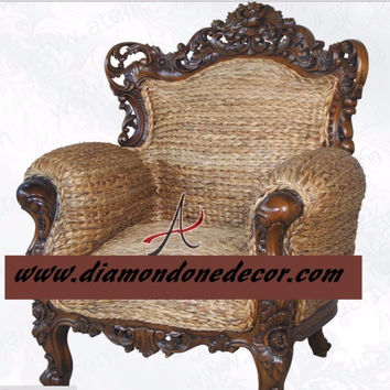 """Palatina Weave"" Fabulous Baroque French Reproduction Louis XV Rococo Victorian Chair"