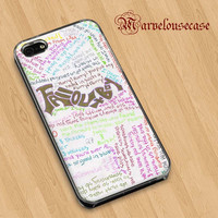 fall out boy lyric  custom case for all phone case