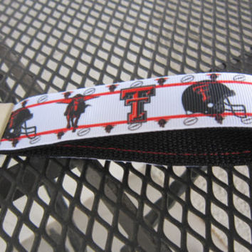 Texas Tech Raiders Keychain Wristlet: Red and Black
