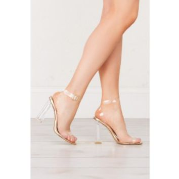PLAY WITH FIRE LUCITE HEEL STRAPPY SANDALS *PRE-ORDER ITEM * EXPECTED TO SHIP 2/10* - What's New