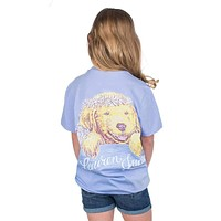 Youth Life is Golden Tee in Lilac Flower by Lauren James