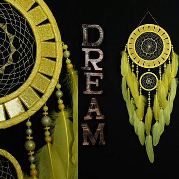 Dreamcatcher sun Dreamcatcher mosaic wall native american Large yellow Dreamcatchers boho Indian talisman gift wall hanging boho wall decor