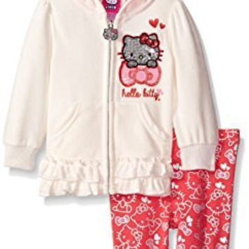 Hello Kitty Baby Girls' Legging Set Print, Off White, 24 Months
