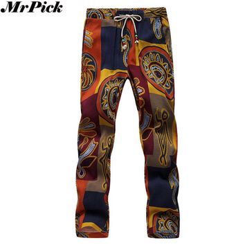 2017 Men Harem Jogger Pants Flower Pants Joggers Sweatpants V70718