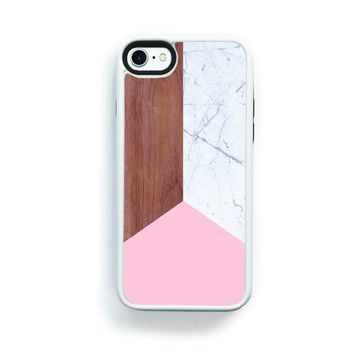 Modern simple wood light marble pink for iPhone 7 968c5e9f1c