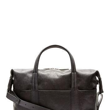 Maison Martin Margiela Black Aged Leather Briefcase