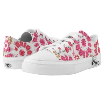 Floral Collage Patterned Printed Shoes