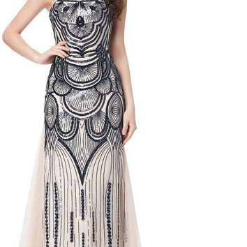 Fast Delivery Evening Dresses Long Women Sequins Robe De Soiree Patterns Evening Gown Special Occasion Formal Dress GK1030