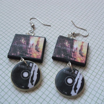 My Chemical Romance Bullets album earrings by CharmaLlama on Etsy