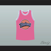 Michael Jordan Space Jam Tune Squad Pink Basketball Jersey Any Size Made to Order ALL Sewn