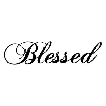 Blessed - Laser Cut Metal Wall Decor Sign