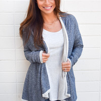 Blue Bird Waterfall Cardigan