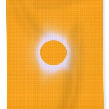 Solar Eclipse, Saros Cycle In Orange Colors - Bath Towel