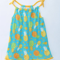 Toddler Baby Girls Infant Outfit Summer Pineapple Dress Kids Sz 12M To 5T