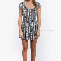 right direction playsuit - black/grey at Esther Boutique