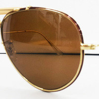 Ray Ban Diamond Outdoorsman Diamond Hard Gold Brown Rayban New