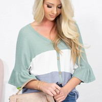 Victoria Thermal Flutter Top