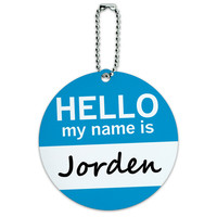 Jorden Hello My Name Is Round ID Card Luggage Tag