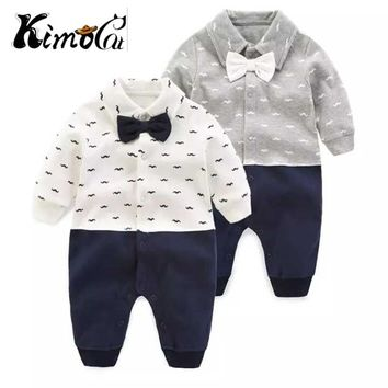 Kimocat new baby rompers new 100% cotton boys newborn clothes long sleeve infant spring autumn clothing