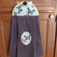 Hanging Kitchen Towel,Butterfly Kitchen Towel Hanging Dish Towel, Hanging Hand Towel, Handing Tie Towel