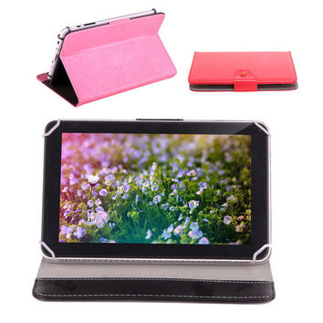 """US Stock! 9 Inch Tablet Case PU Leather Foldable Folding Folio Wallet Shape Stand Smart Cover Cases For 9"""" Tablet PC"""