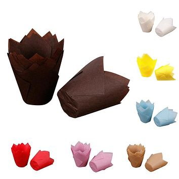50pcs/lot Simple Solid Paper Cupcake Liners for Wedding Muffin Wraps Patty Cases Cup Cake Liner Party Supplies