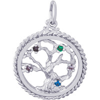Rembrandt Tree of Life Charm, Sterling Silver